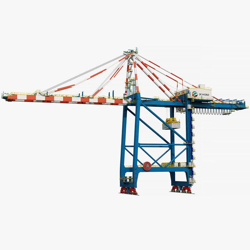 3D model sts harbor crane zpmc