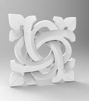 rosette architecture cnc 3D