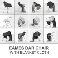 3D eames plastic armchair dar: