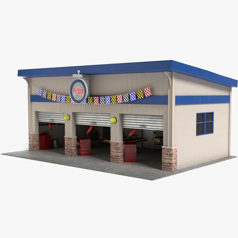 3D pit stop model