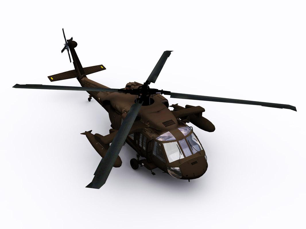3D uh 60 blackhawk helicopter