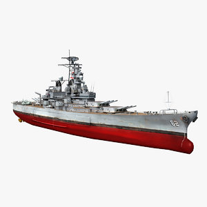 uss new jersey bb-62 3D