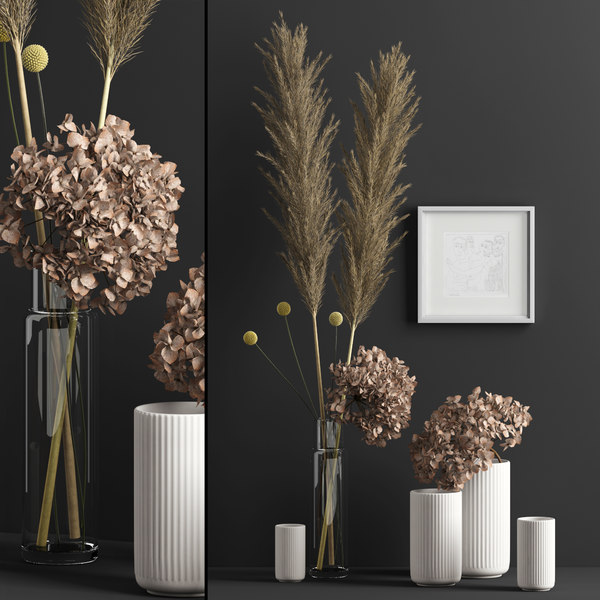 realistic dry flowers model
