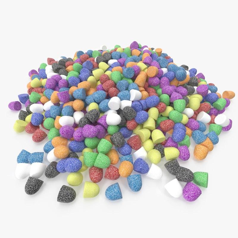 3D gumdrop pile model
