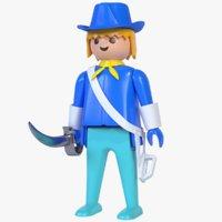 3D playmobil cavalry saber