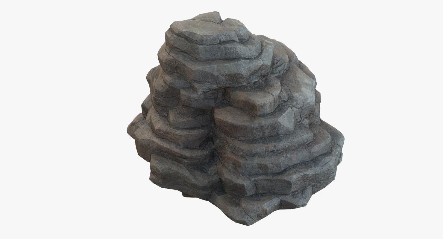 rock mountain stone 3D