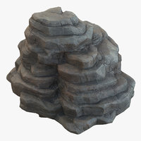 rock mountain stone 3D