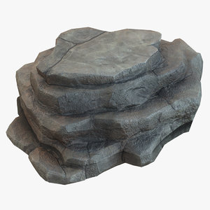 3D stones rock mountain model