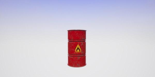 3D model pack barrel tank