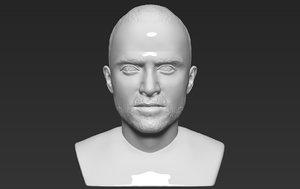 jesse pinkman bust ready 3D model