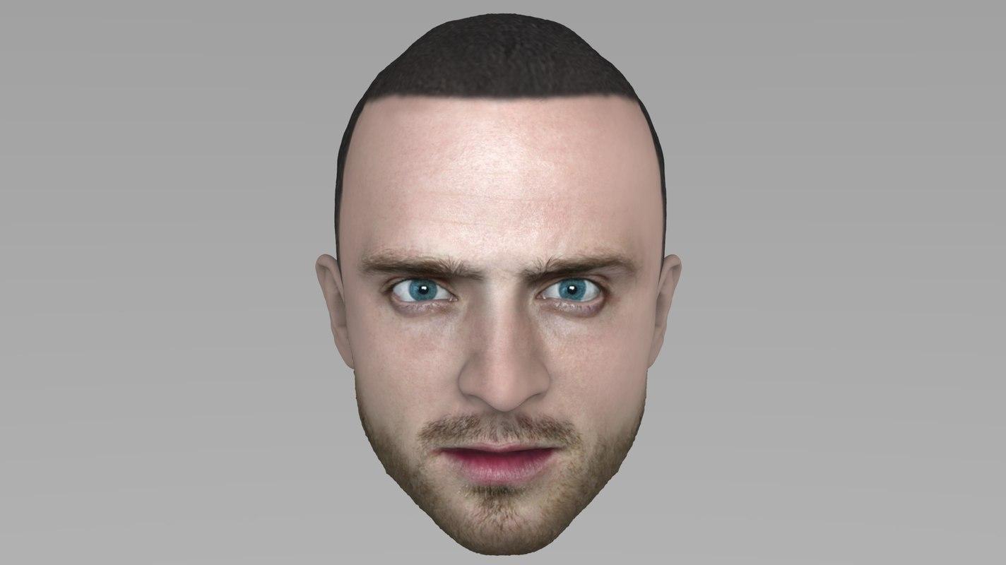 3D head jesse pinkman model