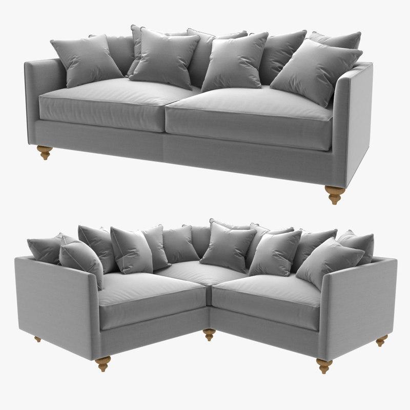 sofas straight 3D model