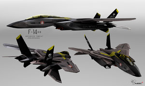 f-14 advanced tomcat 3D model