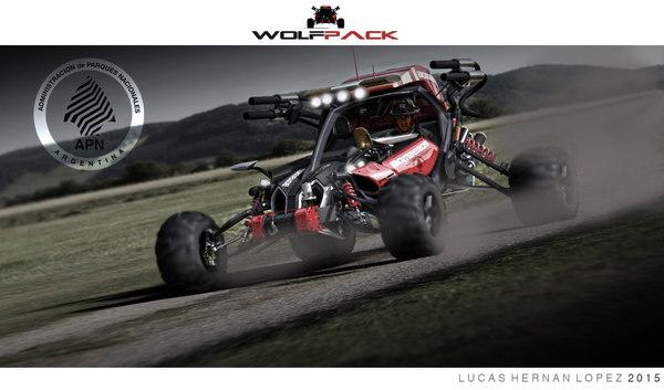 firefighter buggy 3D model