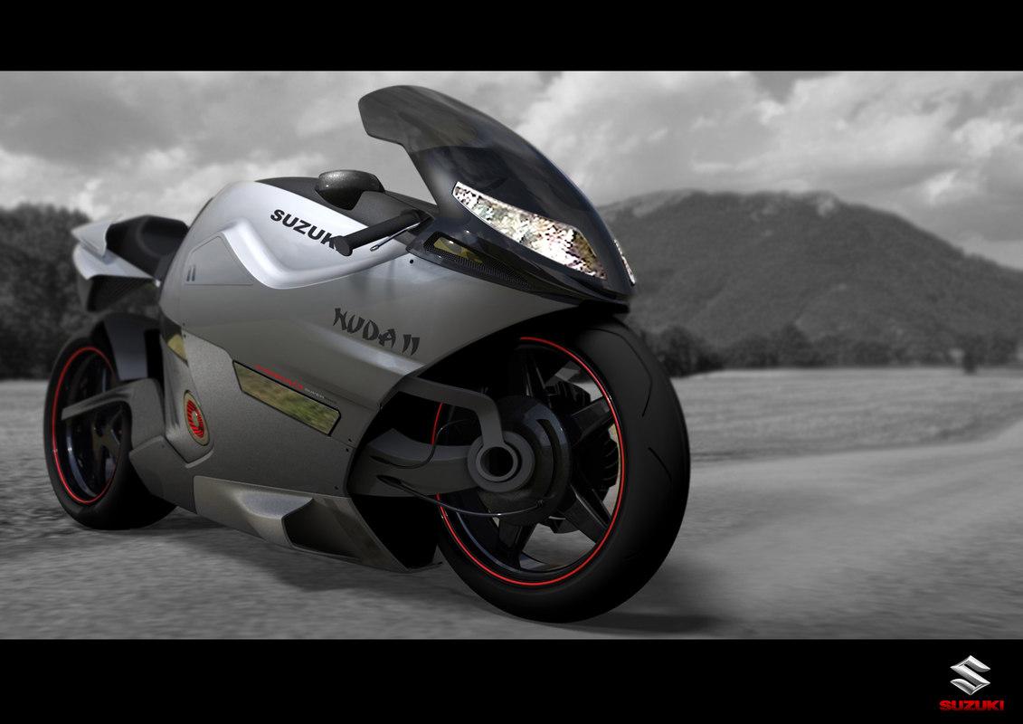 3D suzuki concept bike