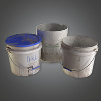 Old Paint Buckets (TLS) - PBR Game Ready