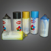 Spray Cans (TLS) - PBR Game Ready