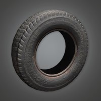 Vehicle Tire 01 (TLS) - PBR Game Ready