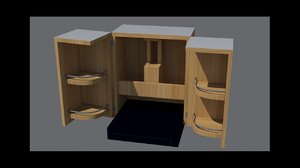 3D model bar cabinet