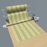 industrial table cutting fabrics 3D model