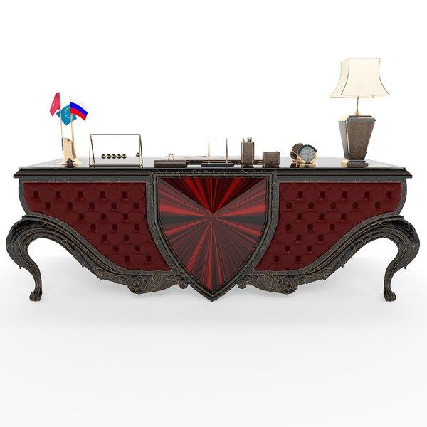 3D model vega office desk