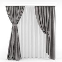3D curtains modern model