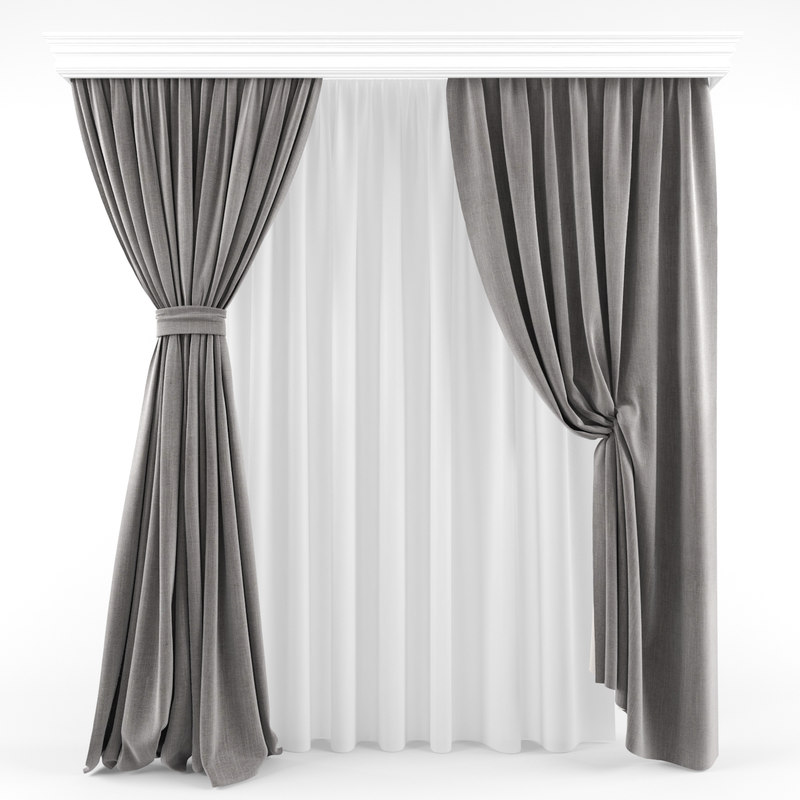 3D curtains modern model
