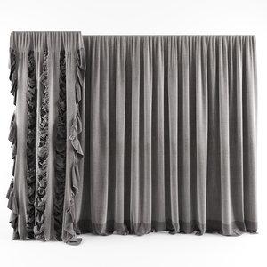 curtains modern 3D model