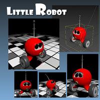 Little robot rigged