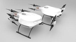 fpv racing drone 3D model