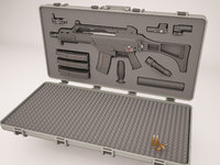 Case with weapons