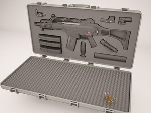 3D case weapons gun model