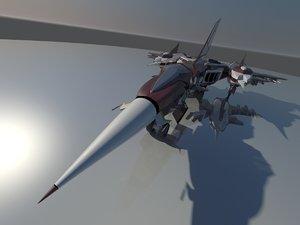 3D sci-fi airfighter