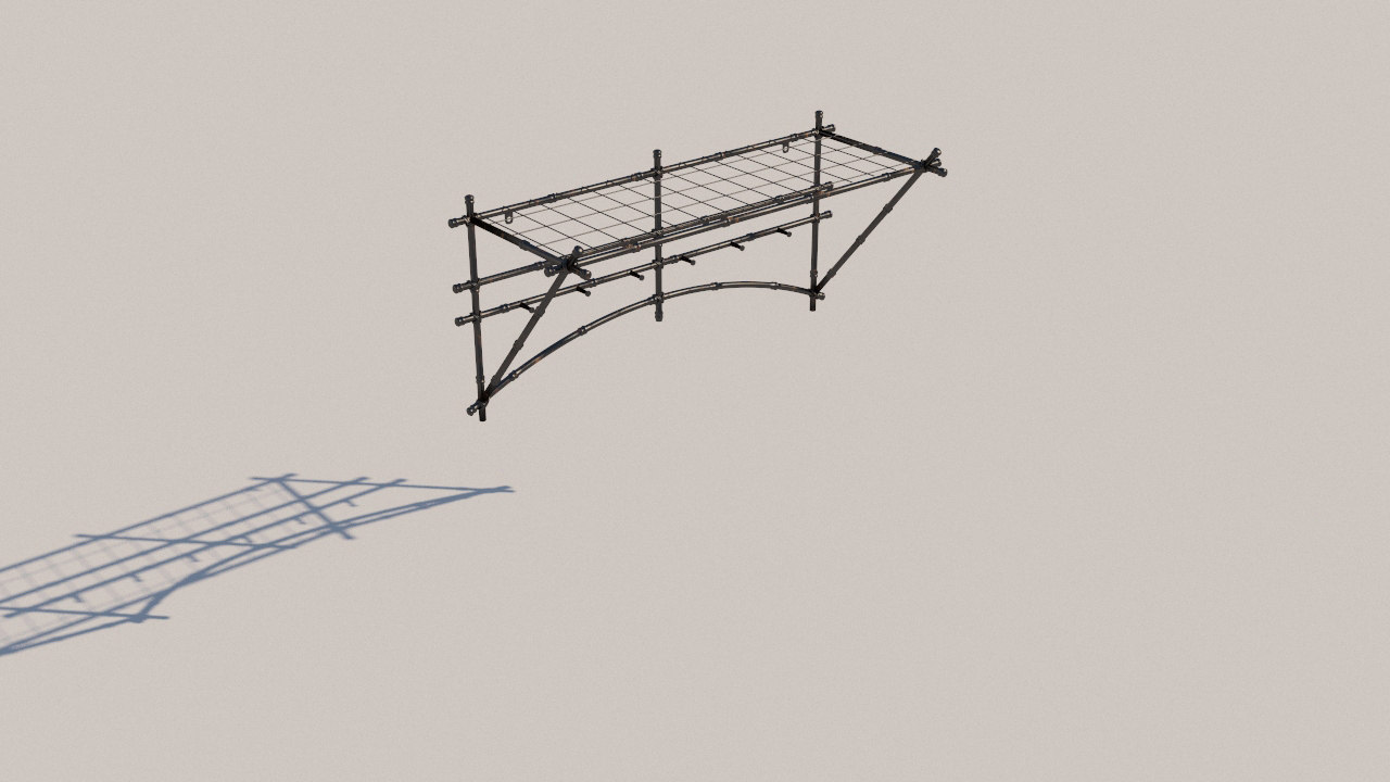 3D forged clothes hanger model