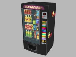 3D model vending machine snack drinks