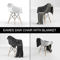eames plastic armchair daw: 3D model