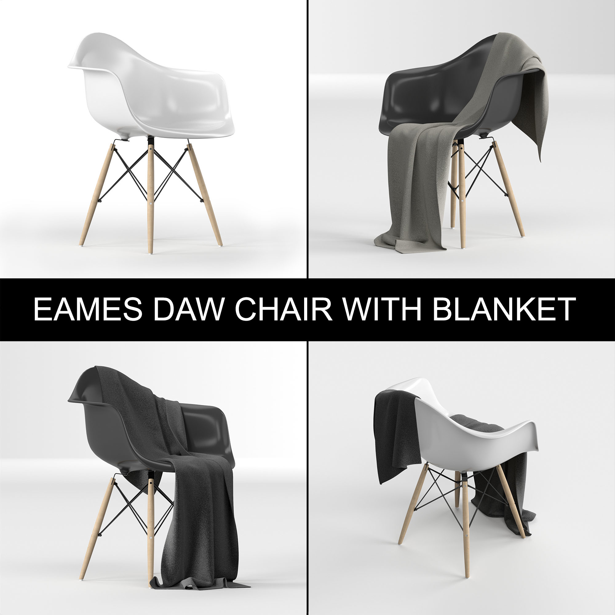Outstanding Eames Plastic Armchair Daw Charles Ray Eames 1950 With Blanket Cloth Ocoug Best Dining Table And Chair Ideas Images Ocougorg