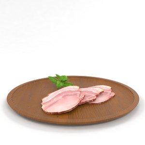 meat bacon sliced 3D model