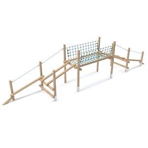 3D model wooden playground