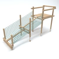 wooden playground 3D model