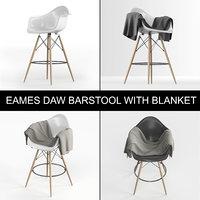 3D eames plastic armchair daw