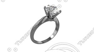 tiffany ring 3D