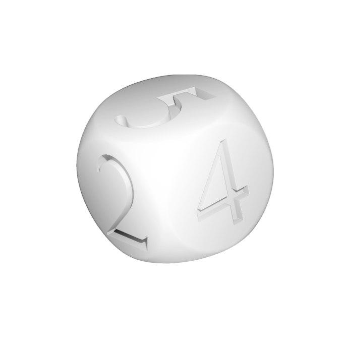 simple dice 3D model
