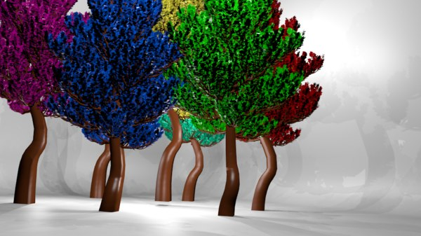 fantasy trees 3D model
