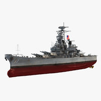 uss missouri bb-63 3D model