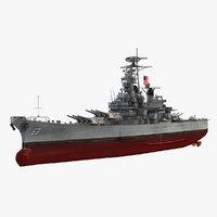 uss missouri bb-63 3D model