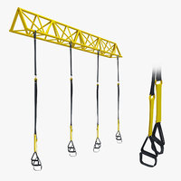 GYM TRX Sport Equipment 3D model