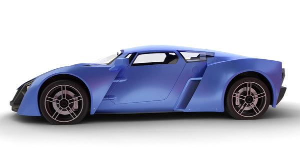 3D russian car marussia