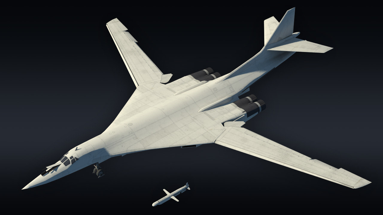 3D model tu-160 bomber supersonic