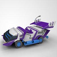 3D cartoon toy car print